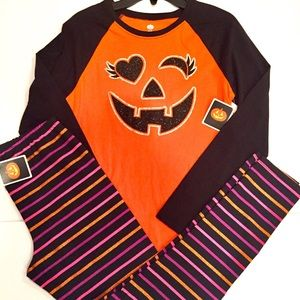 Other - NEW HALLOWEEN TOP LEGGINGS GIRLS XL 14/16 NWT